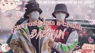 taeyong has a crush on baekhyun | superm baekyong!