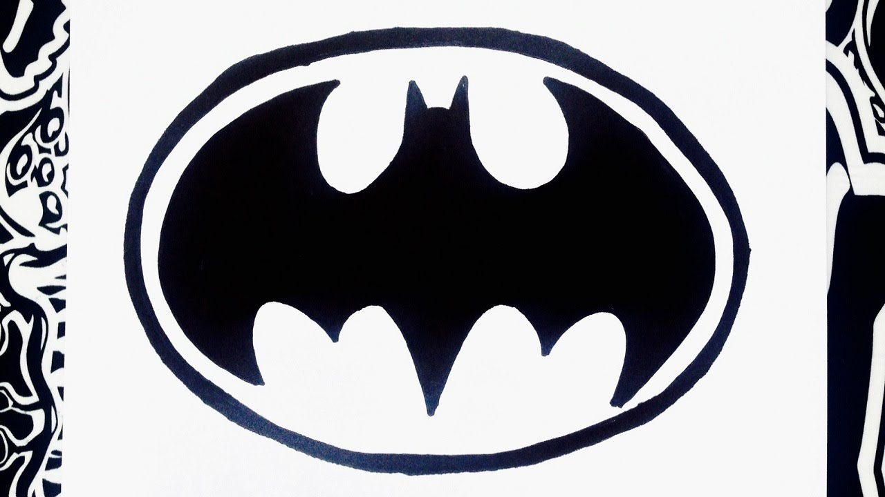 Como dibujar el logo de Batman | how to draw batman - YouTube