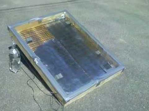 Homemade solar hot water heater - YouTube