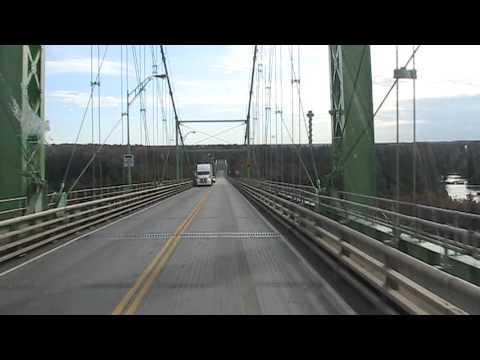 Driving a truck over the Thousand Islands Bridges