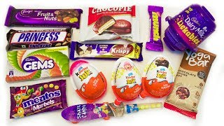 KINDER JOY AND SOME CANDIES | SNICKERS, LICKABLES, MENTOS, GEMS, CHOCOPIE, SKATE CANDY thumbnail
