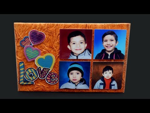 Make Awesome Photo Frame Out Of Paper and cardboard | Diy-Paper Crafts