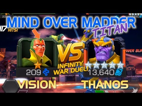 Mind Over Madder: 1* Vision Vs. 5* Thanos (Infinity War Duel) | Marvel Contest Of Champions