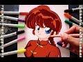 Cómo Dibujar a Ranma Saotome Chica paso a paso How To Draw Ranma Speed Drawing | CarlosNaranjoTV