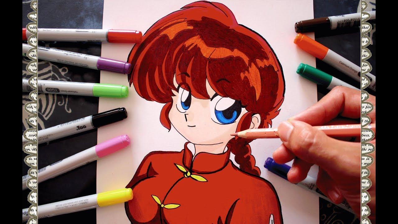 c u00f3mo dibujar a ranma saotome chica paso a paso how to draw ranma speed drawing