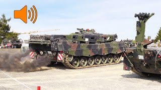 Leopard 2 Engine Start | V12 Diesel Twin Turbo Sound