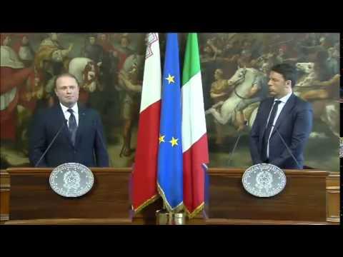 Roma - Renzi riceve Muscat (20.04.15)