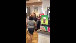 ratchet girls fight in mcdonald