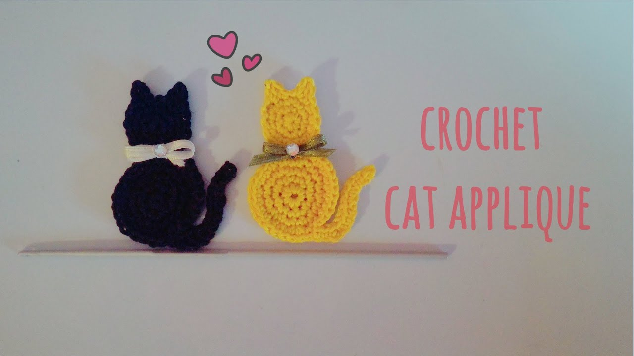 How to crochet a cat applique english tutorial youtube bankloansurffo Image collections
