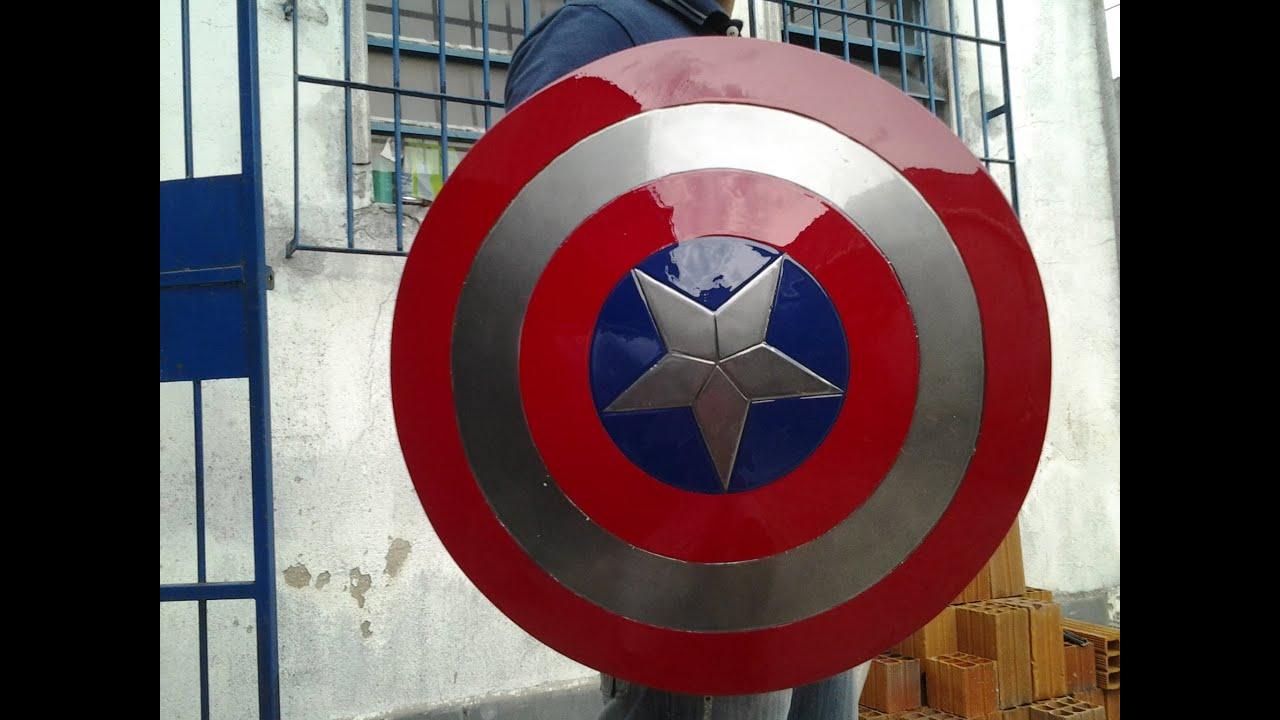 Top Escudo do Capitão America, feito em casa - YouTube ZB65