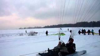 Полеты на параплане зимой
