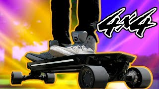 WORLD'S FIRST 4x4 Electric Longboard?! Blink QU4TRO Review!