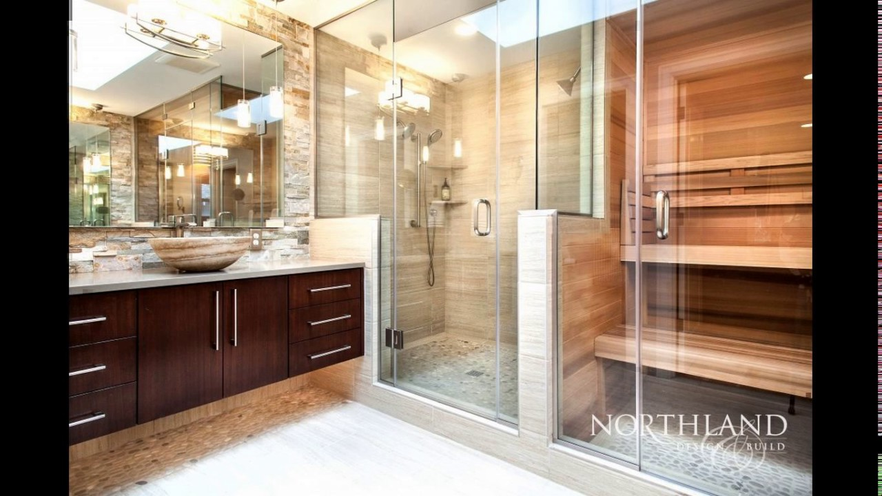 Bathroom with sauna designs - YouTube
