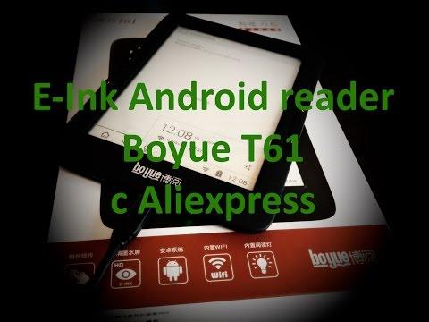 Китайская Электронная Книга BOYUE T61 E-ink Android с Aliexpress