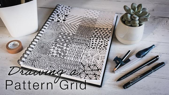 fineliner patterns  drawing a pattern grid