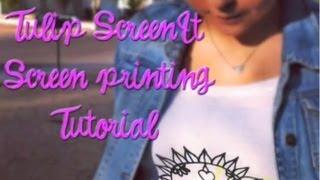 DIY Silkscreen: How to Screen Print with the Tulip ScreenIt