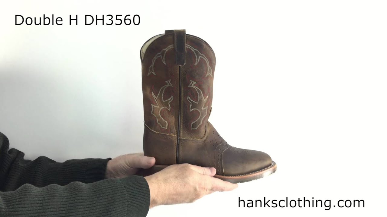 Details about  /MEN/'S Double-H Men/'s ICE Roper Boots DH3560 NIB MADE IN USA!