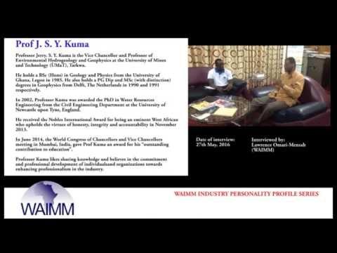 Meet Vice Chancellor Professor Jerry S. Y. Kuma, University of Mines and Technology, Ghana