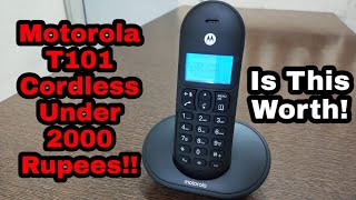 Motorola T101 Cordless Landline Phone Unboxing & Quick Overview Review