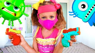 Майя и детская история про микробы | Новые веселые истории с игрушками