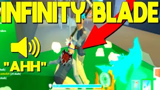 So INFINITY BLADE Is Out In Strucid... 'INSANE (Roblox Fortnite)