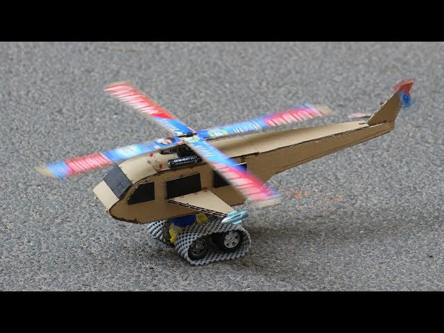 How to make a cardboard Helicopter - DIY Toys