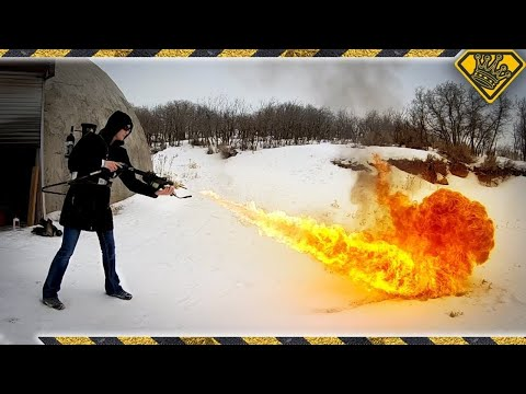Can You Use A Flamethrower To Quickly Clear Snow? TKOR Tests The Idea Of Flamethrower Snow Removal