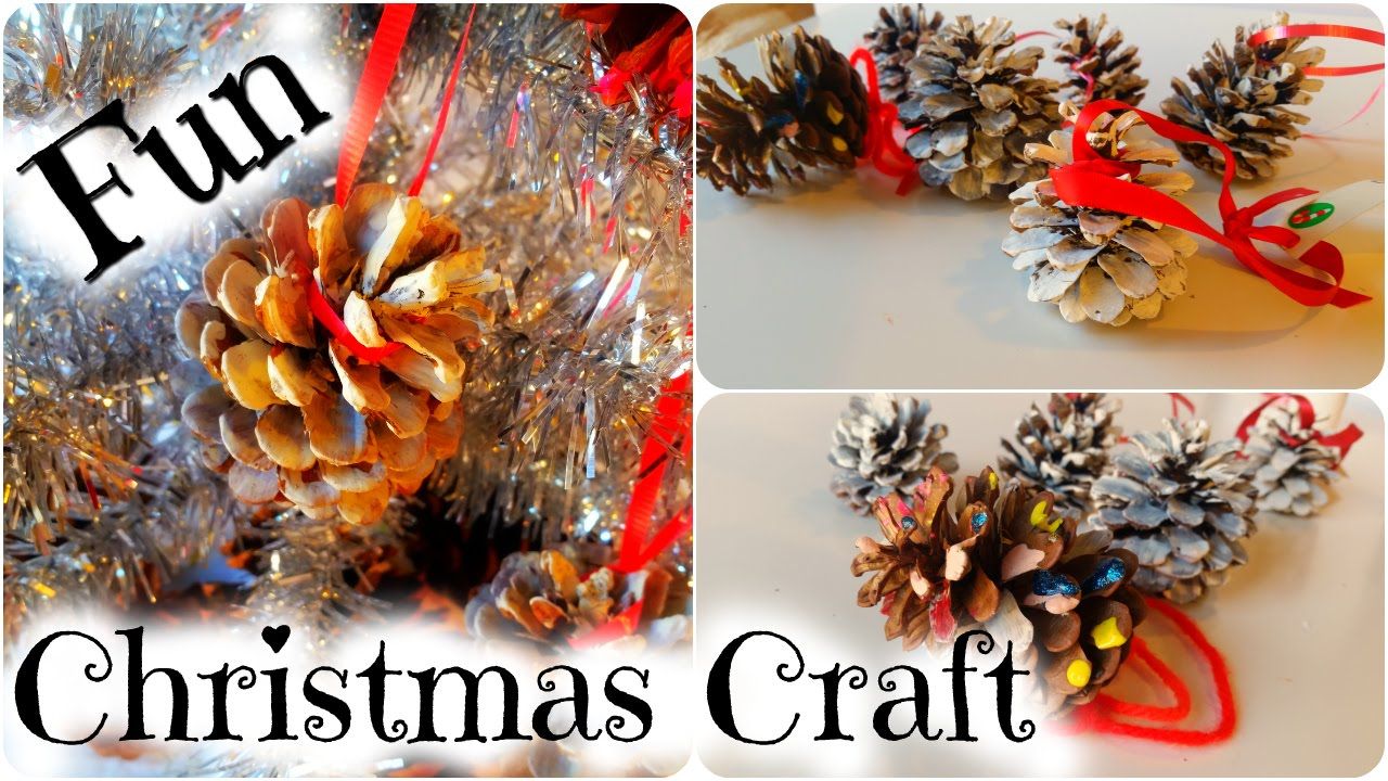 How to Make a Pinecone Christmas Tree Ornament - Easy Kid Christmas Craft  by Duck Duck Goose Fun - YouTube