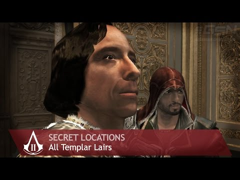 Assassin's Creed 2 - Side Memories - All Templar Lairs [Secret Locations]