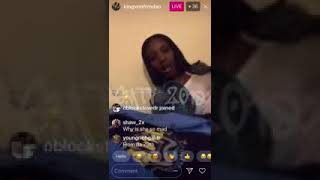 King Von ARGUING WITH BD CHICK GETS A LIL HEATED