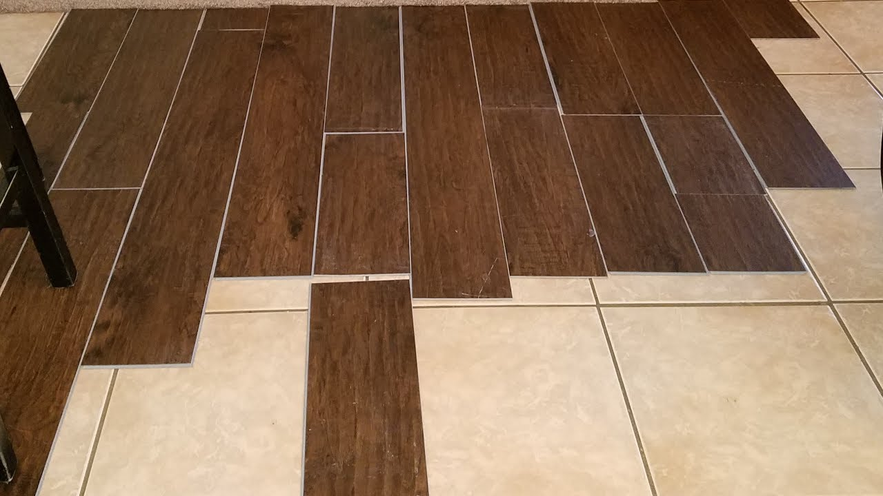 vinyl plank flooring over tile / should I do this? - YouTube