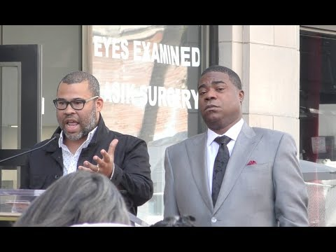 Jordan Peele at Tracy Morgan Walk of Fame ceremony in Hollywood - Subscribe