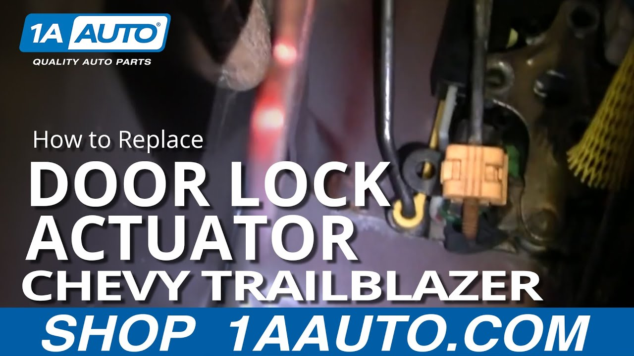 maxresdefault how to install replace broken power door lock front chevy 2004 Chevy Trailblazer Engine Diagram at crackthecode.co