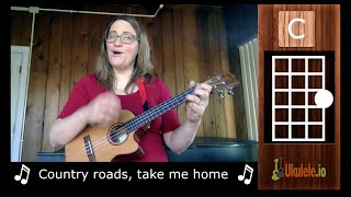 Country Roads Ukulele Chords and Tutorial for Beginners - Ukulele Sisters