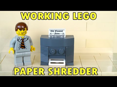 How To Build A Working Lego Paper Shredder