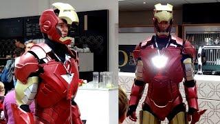 XRobots - Iron Man Cosplay at Brighton Mini Maker Faire, Exhibiting with SoMakeIt Dalek
