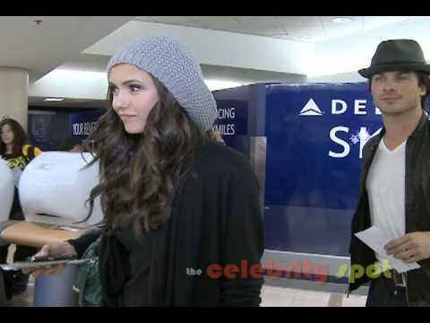 Vampire Diaries\' Nina Dobrev & Ian Somerhalder Depart LAX Together