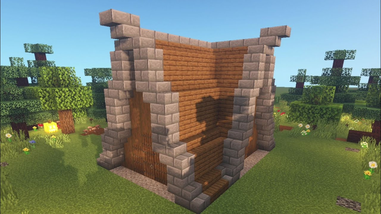 Minecraft:How to build a STRANGE STARTER HOUSE