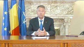 Mesajul președintelui Klaus Iohannis, după protestele din 10-12 august