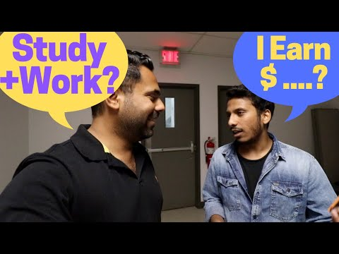 Earning while studying in Canada - When I met Indian students in Canadian College.