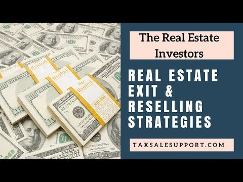 Real Estate Exit Strategies: Wholesell & Reselling Property