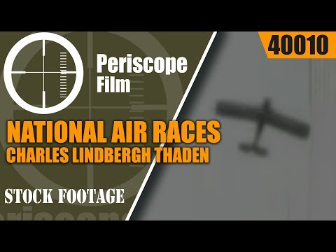 NATIONAL AIR RACES OF 1929 IN CLEVELAND OHIO Cliff Henderson, Charles Lindbergh Thaden 40010 HD