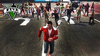 GTA V Online (PS4) - EL ATRACO MAS ESTÚPIDO - 29 VS 1!! - NexxuzHD