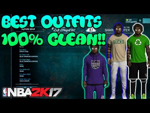 NBA2K17--BEST OUTFITS!! 100% CLEAN! DRESS LIKE A CHEESER! GET NOTICED IN MYPARK!