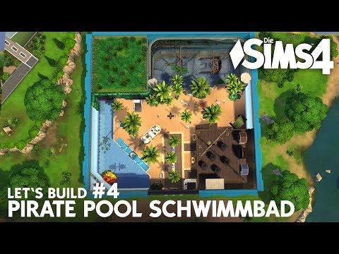 Die Sims 4 Schwimmbad bauen | Pirate Pool #4 Indoor Beach (deutsch)