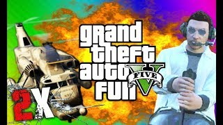 2X SPEED UP VERSION - GTA 5 Online Funny Moments Gameplay 6 - Airfield Trolling, Cargobob, Car Heist