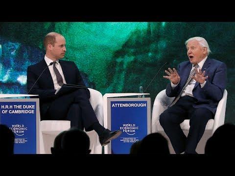 Prince William interviews David Attenborough at Davos 2019