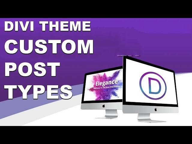 NEW Divi Theme Feature Update For The Divi Builder. Custom Posts Types And More!