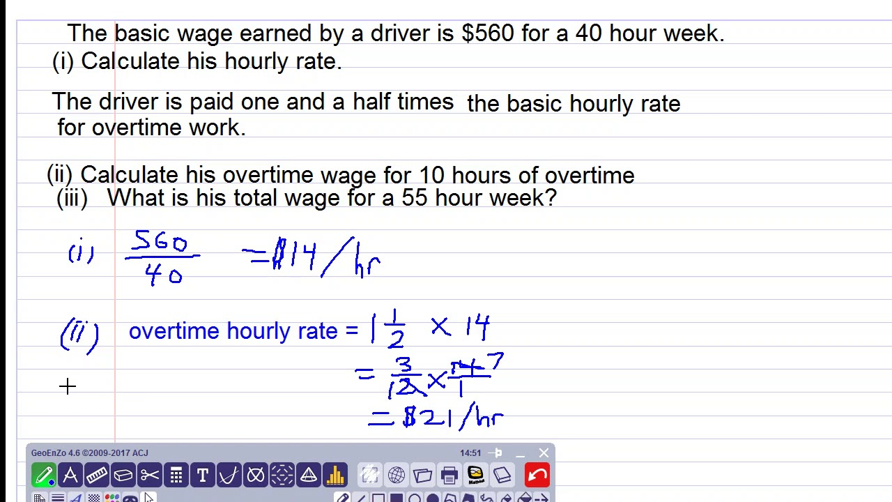 Download wages and overtime question
