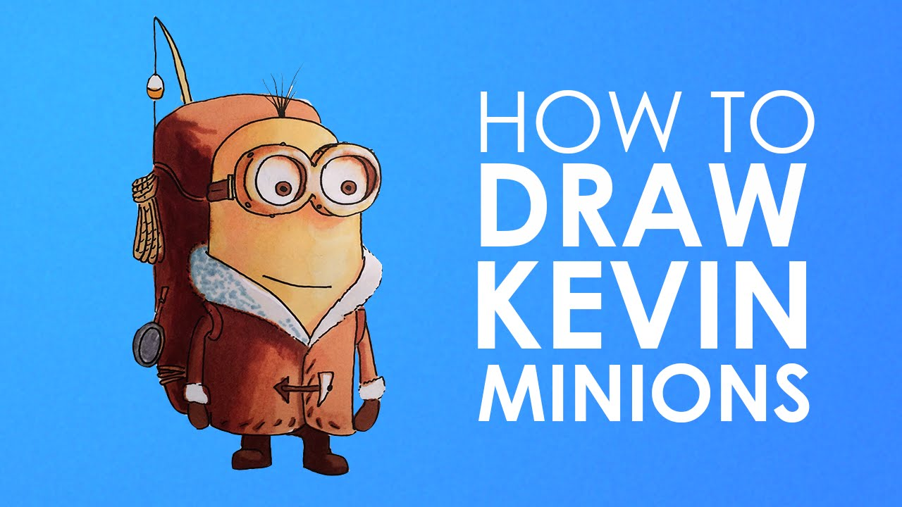 Show me how to draw a minion - How To Draw Kevin Minion From Minions Easy Step By Step Video Lesson For Beginners Youtube